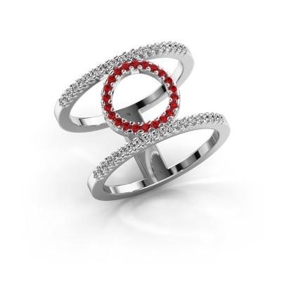 Ring Latoria 2 925 zilver robijn 1.1 mm