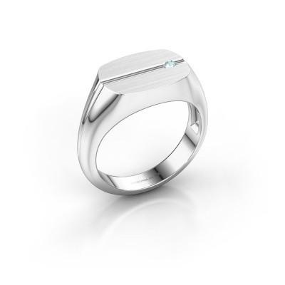 Bild von Herren ring Stijn 925 Silber Aquamarin 2 mm