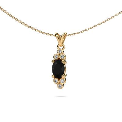 Foto van Hanger Lucy 2 375 goud zwarte diamant 1.05 crt