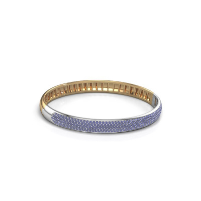 Slavenarmband Emely 7mm 585 goud saffier 1.2 mm