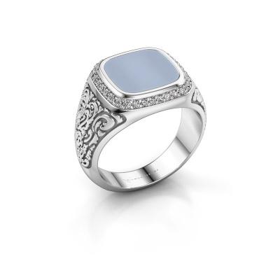 Foto van Heren ring Jesse 3 925 zilver licht blauwe lagensteen 10x10 mm