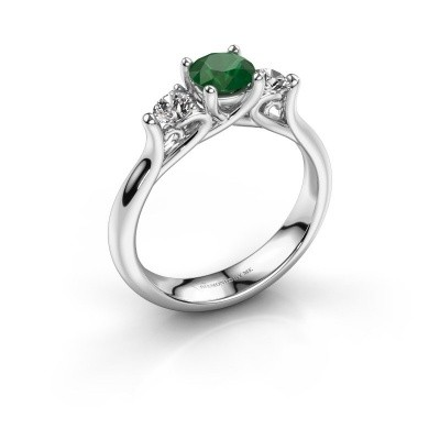 Foto van Verlovingsring Jente 925 zilver smaragd 5.5 mm