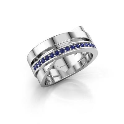Ring Yolando 585 white gold sapphire 1.3 mm