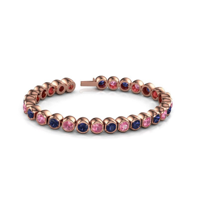 Picture of Tennis bracelet Bianca 5 mm 375 rose gold pink sapphire 5 mm