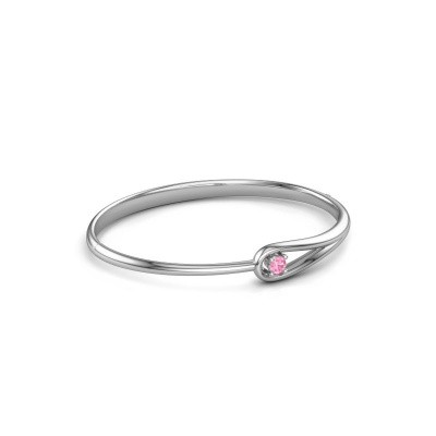 Foto van Slavenarmband Zara 950 platina roze saffier 4 mm