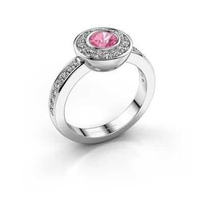 Ring Ivy 585 Weißgold Pink Saphir 5 mm