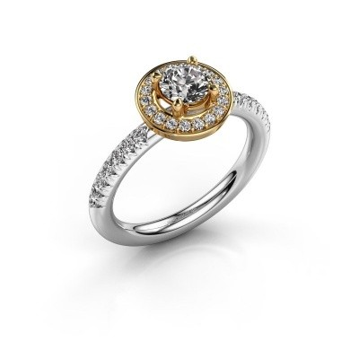 Foto van Ring Christine 585 witgoud zirkonia 5 mm