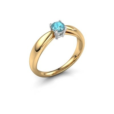 Verlovingsring Nichole 585 goud blauw topaas 4.2 mm