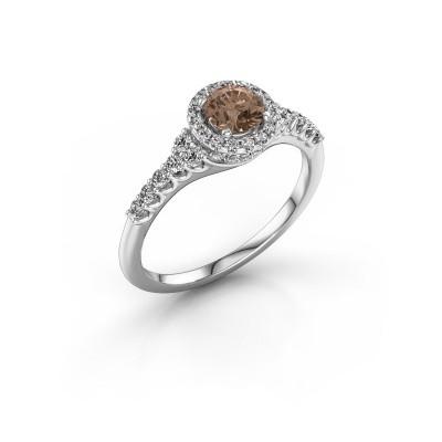 Foto van Verlovingsring Loralee 585 witgoud bruine diamant 0.873 crt