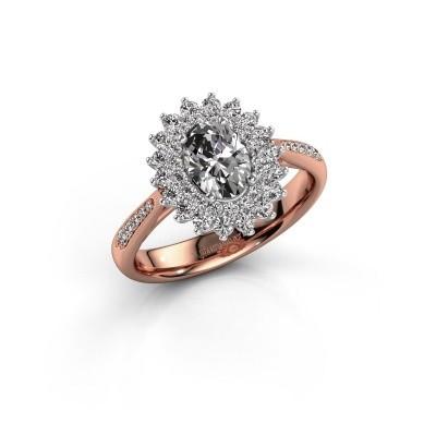 Aanzoeksring Alina 2 585 rosé goud diamant 1.326 crt