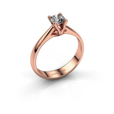 Engagement ring Janna 1 375 rose gold diamond 0.40 crt