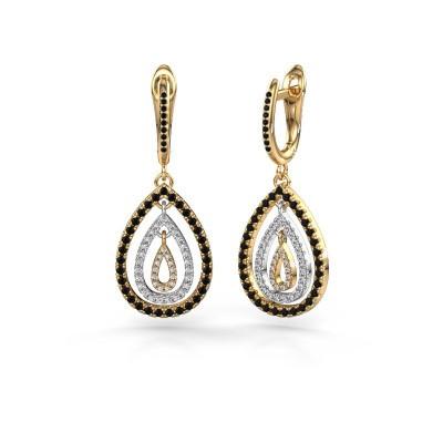 Foto van Oorhangers Marietta 2 585 goud zwarte diamant 0.958 crt