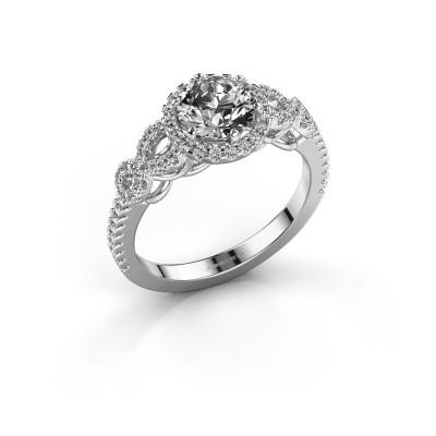 Bague de fiançailles Sasja 585 or blanc diamant 1.325 crt