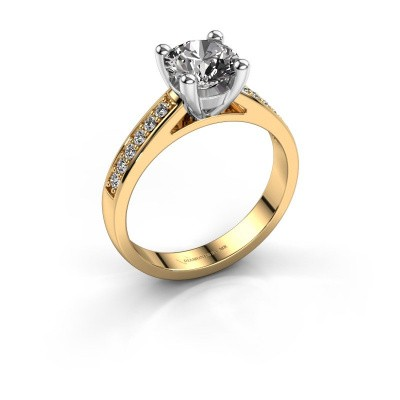 Verlovings ring Nynke 585 goud diamant 1.18 crt