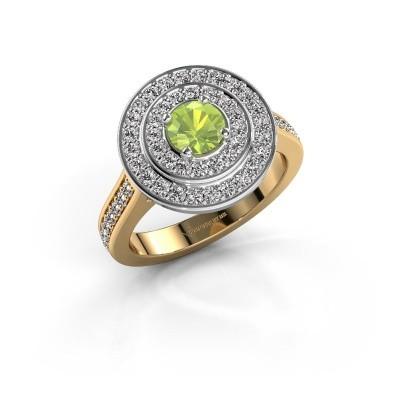 Ring Alecia 2 585 goud peridoot 5 mm