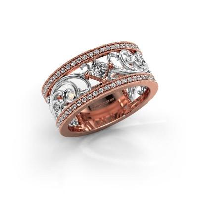 Ring Danae 585 rosé goud lab-grown diamant 0.58 crt