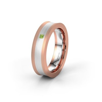 Wedding ring WH2238L2 585 rose gold peridot ±6x2.2 mm