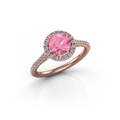 Foto van Verlovingsring Marty 2 375 rosé goud roze saffier 6.5 mm