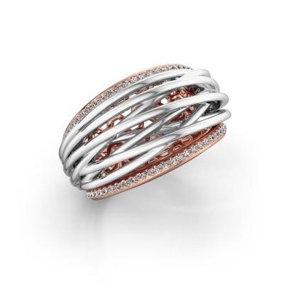 Foto van Ring Kirstin 585 rosé goud lab-grown diamant 0.27 crt