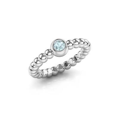 Stackable ring Dini 950 platinum aquamarine 3 mm