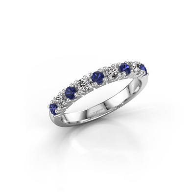 Picture of Engagement ring Rianne 9 950 platinum sapphire 2.4 mm