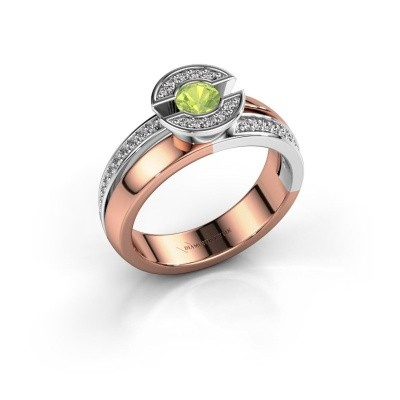 Ring Jeanet 2 585 rose gold peridot 4 mm