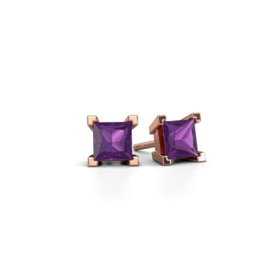 Picture of Stud earrings Ariane 375 rose gold amethyst 5 mm