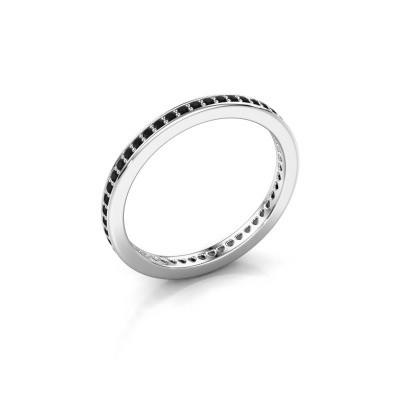 Aanschuifring Elvire 1 925 zilver zwarte diamant 0.392 crt