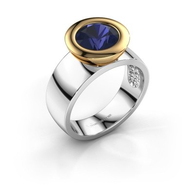 Ring Maxime 585 witgoud saffier 8 mm