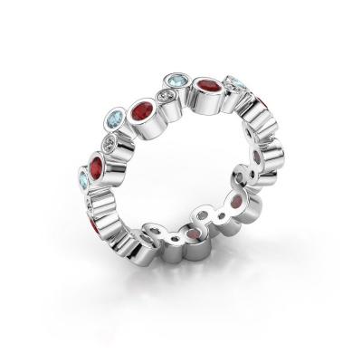 Ring Tessa 925 zilver robijn 2.5 mm