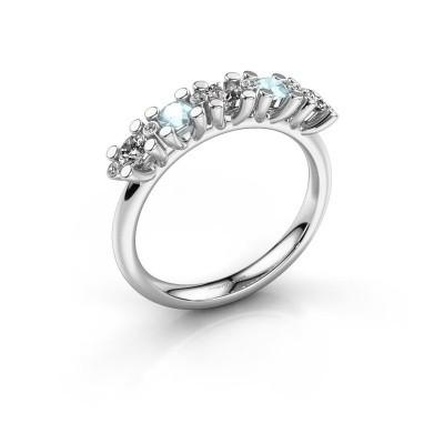 Foto van Ring Puk 3 375 witgoud lab-grown diamant 0.33 crt