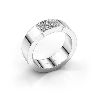 Foto van Ring Zoey 925 zilver diamant 0.15 crt