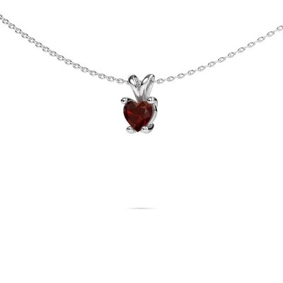 Picture of Necklace Sam Heart 585 white gold garnet 5 mm