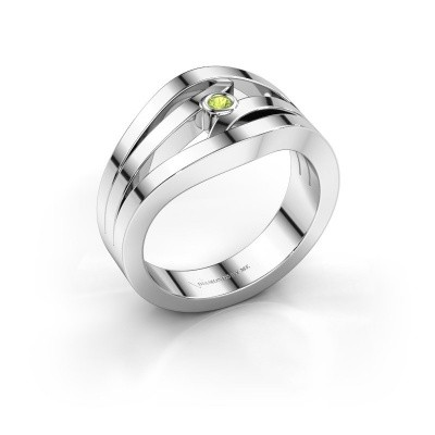 Ring Carlijn 925 Silber Peridot 2 mm