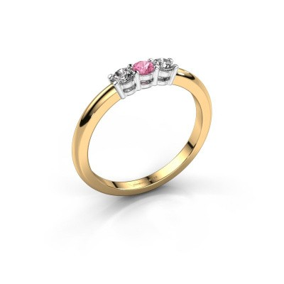 Picture of Engagement ring Michelle 3 585 gold pink sapphire 3 mm