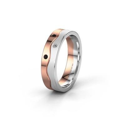 Ehering WH0701L15APM 585 Roségold Schwarz Diamant ±5x1.7 mm