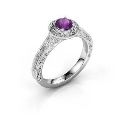Verlovings ring Alice RND 925 zilver amethist 5 mm