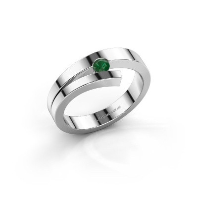 Picture of Ring Rosario 925 silver emerald 3 mm