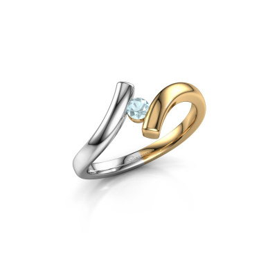 Picture of Ring Amy 585 gold aquamarine 3 mm