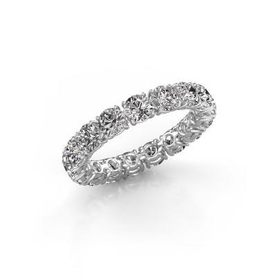 Photo de Bague superposable Vivienne 3.7 585 or blanc diamant synthétique 3.40 crt