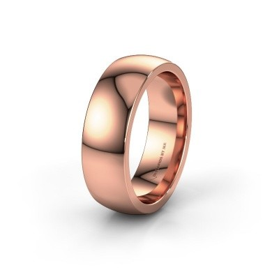 Wedding ring WH6120M27C 375 rose gold ±7x2.2 mm