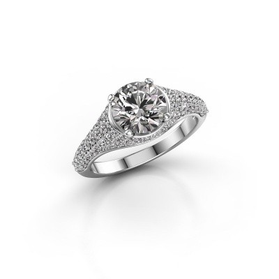 Foto van Ring Lovella 585 witgoud diamant 1.929 crt