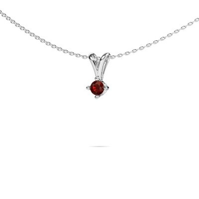 Picture of Necklace Jannette 585 white gold garnet 3.7 mm