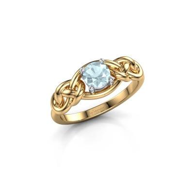 Foto van Ring Zoe 585 goud aquamarijn 5 mm