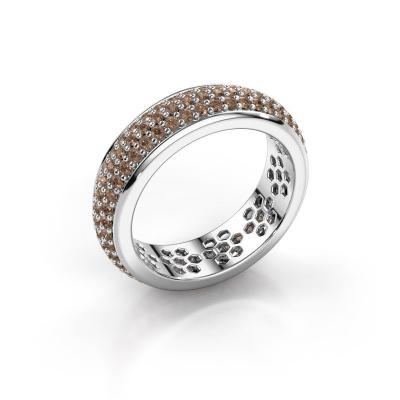 Ring Tara 585 witgoud bruine diamant 1.32 crt