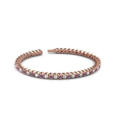 Foto van Tennisarmband Patrica 375 rosé goud amethist 2.4 mm
