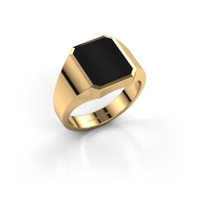 Picture of Signet ring Lars 2 375 gold onyx 12x10 mm