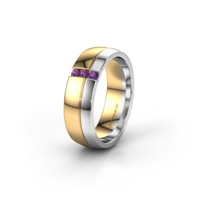 Wedding ring WH0223L56A 585 gold amethyst ±6x1.7 mm
