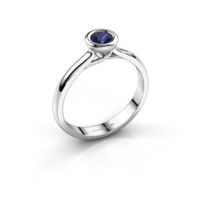 Foto van Verlovings ring Kaylee 925 zilver saffier 4 mm