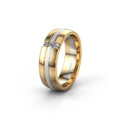 Trauring WH0426L26A 585 Gold Lab-grown Diamant ±6x1.7 mm
